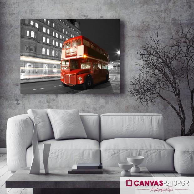Λεωφορείο στο Λονδίνο , πίνακας σε καμβά