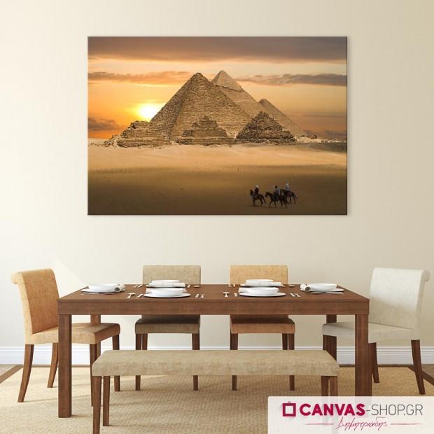 Πυραμίδες , πίνακας σε καμβά