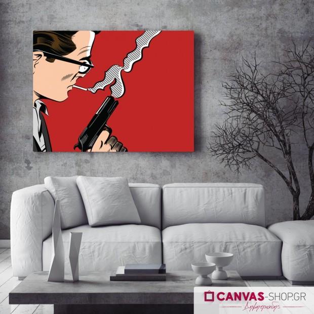 Smoking Gun, πίνακας σε καμβά