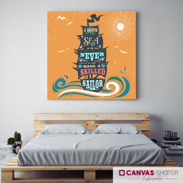 A Smooth Sea..., πίνακας σε καμβά