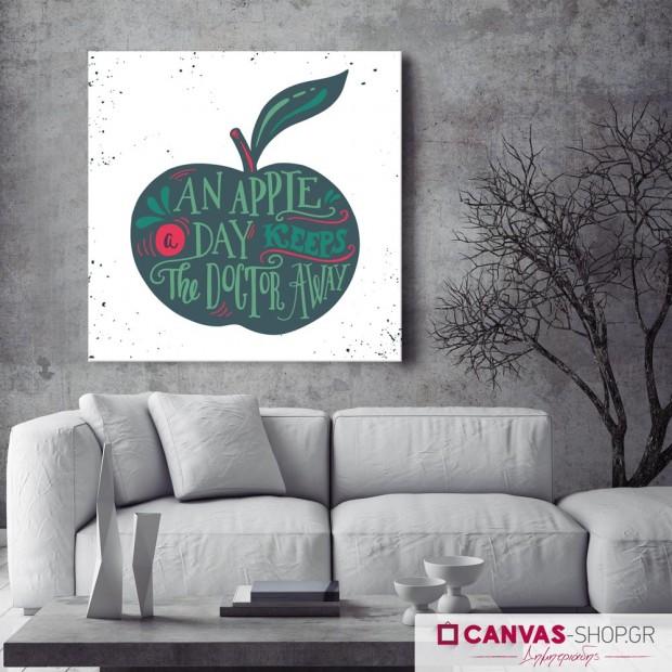 An Apple a Day, πίνακας σε καμβά