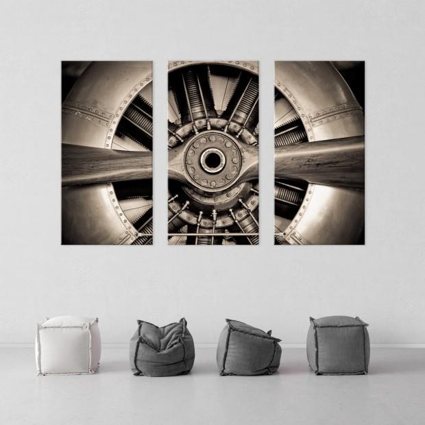 Έλικας Αεροπλάνου, τρίπτυχος πίνακας σε καμβά