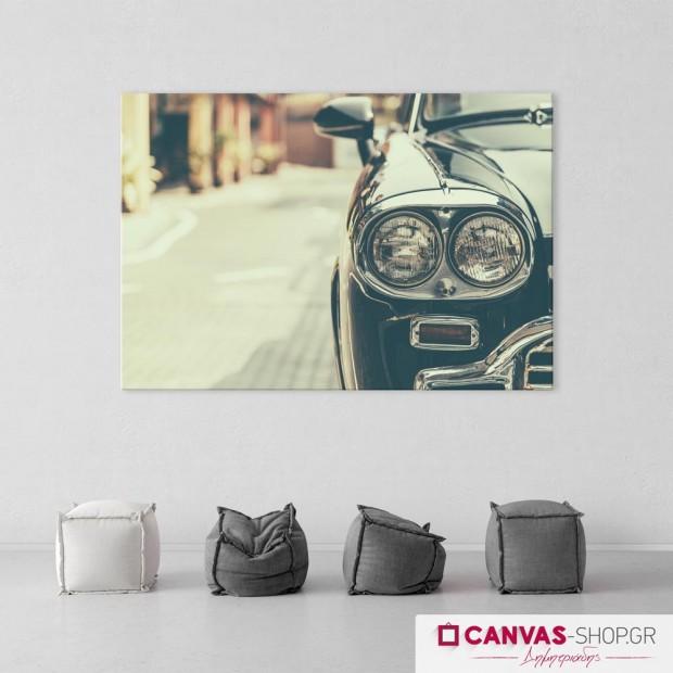 Vintage Αυτοκίνητο, πίνακας σε καμβά