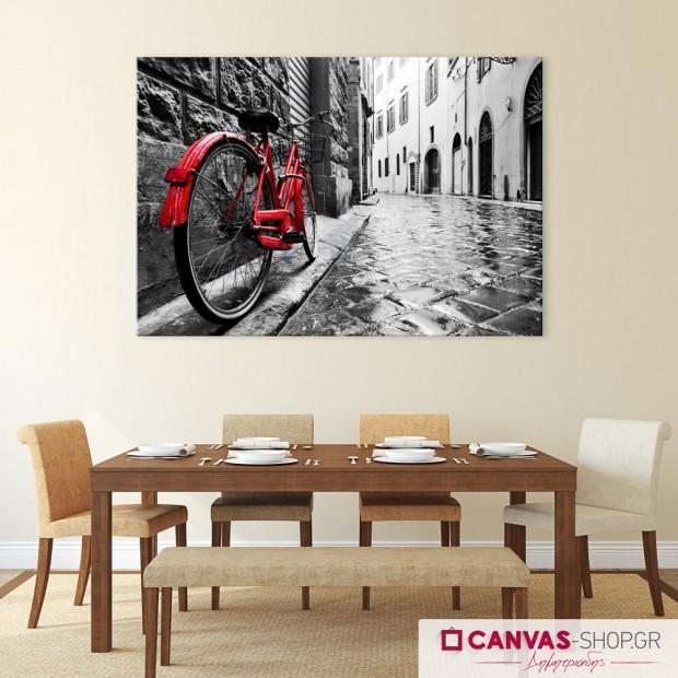Κόκκινο Ποδήλατο, πίνακας σε καμβά