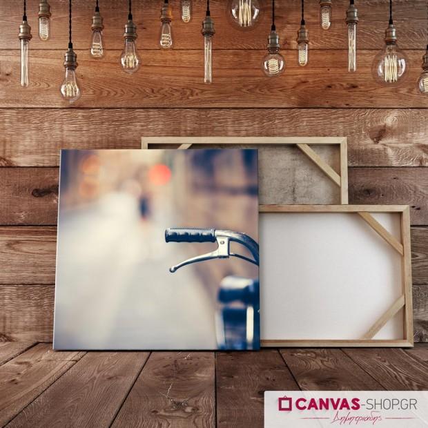 Ποδήλατο σε Θολό Φόντο, πίνακας σε καμβά