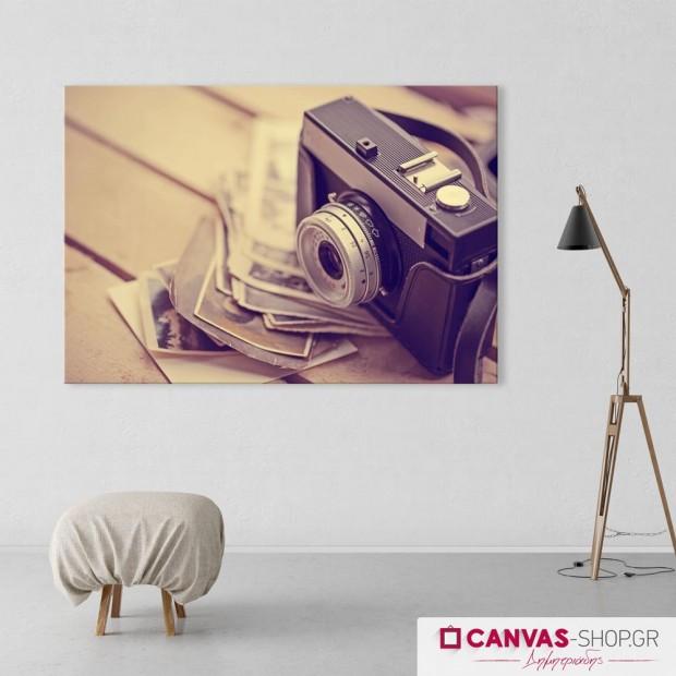 Παλιά Φωτογραφική Μηχανή, πίνακας σε καμβά