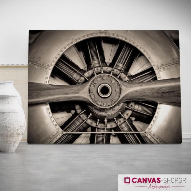 Έλικας Αεροπλάνου, πίνακας σε καμβά