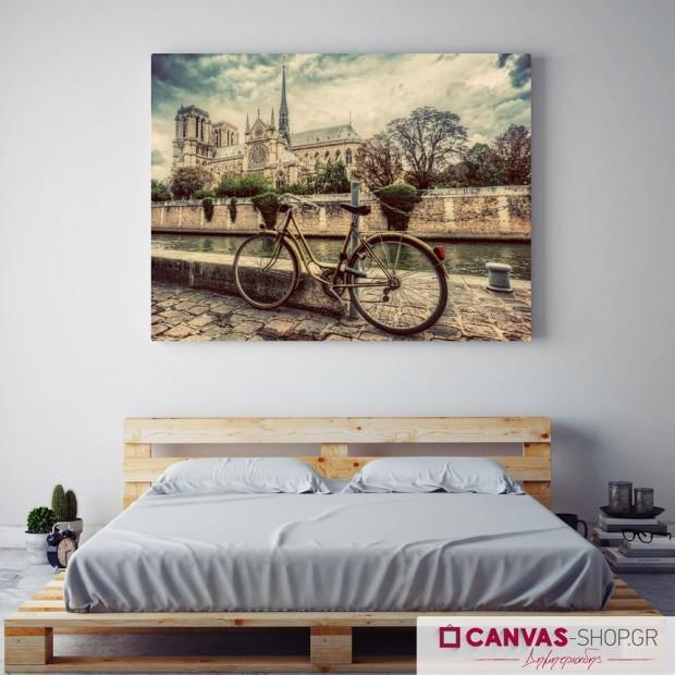 Παλιό Ποδήλατο, πίνακας σε καμβά