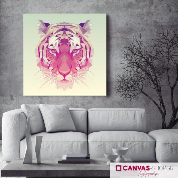 Τίγρης, πίνακας σε καμβά