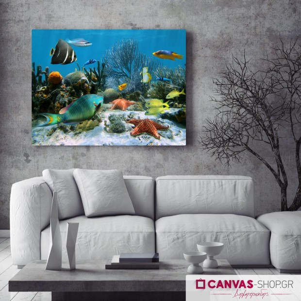 Ψάρια, πίνακας σε καμβά